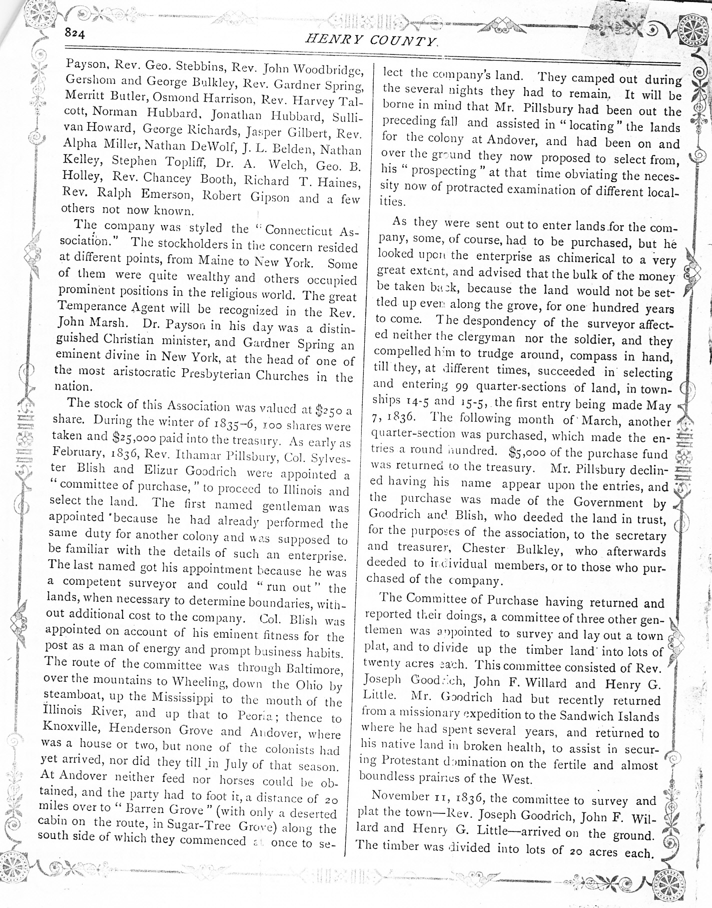 Illinois henry county andover - Wethersfield In 1885 History_0002 Jpg
